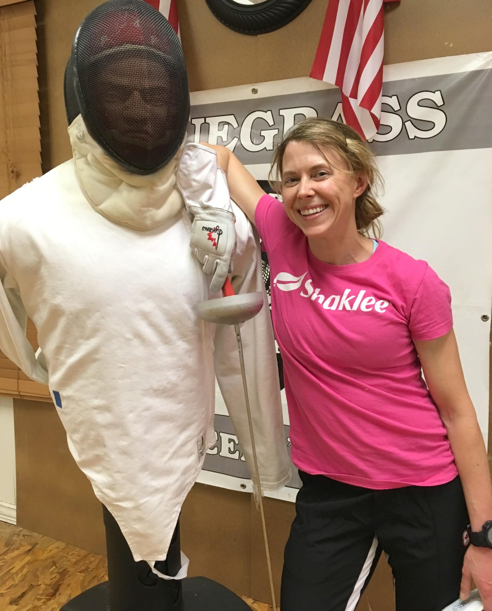 Donna Vakalis fencing dummy